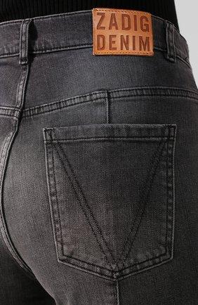 Женские джинсы ZADIG&VOLTAIRE серого цвета, арт. WHCB3003F | Фото 5