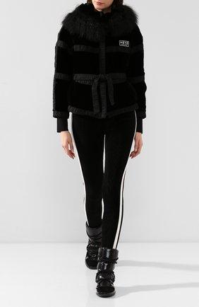 Женская куртка с поясом GIORGIO ARMANI черного цвета, арт. 9WH0L049/T01AZ | Фото 2