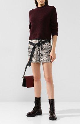 Женская кашемировый свитер VINCE бордового цвета, арт. V613678261 | Фото 2