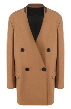 Женское шерстяное пальто JOSEPH бежевого цвета, арт. JP000802 | Фото 1