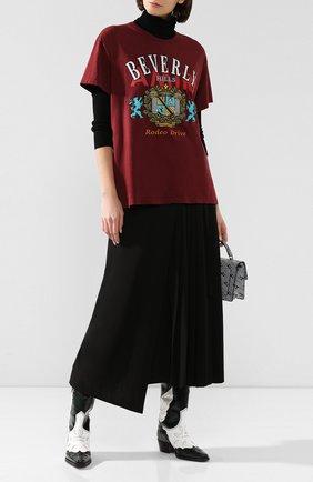 Женская хлопковая футболка AMIRI бордового цвета, арт. W9W03275CJ | Фото 2