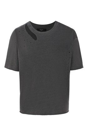 Женская хлопковая футболка AMIRI темно-серого цвета, арт. W9W03345CJ | Фото 1