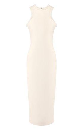 Женское шерстяное платье BRANDON MAXWELL белого цвета, арт. DR160FW19 | Фото 1