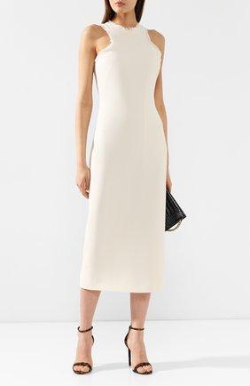 Женское шерстяное платье BRANDON MAXWELL белого цвета, арт. DR160FW19 | Фото 2