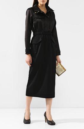 Женское шерстяное платье BRANDON MAXWELL черного цвета, арт. DR161FW19 | Фото 2