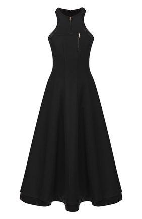 Женское шерстяное платье BRANDON MAXWELL черного цвета, арт. DR170FW19 | Фото 1