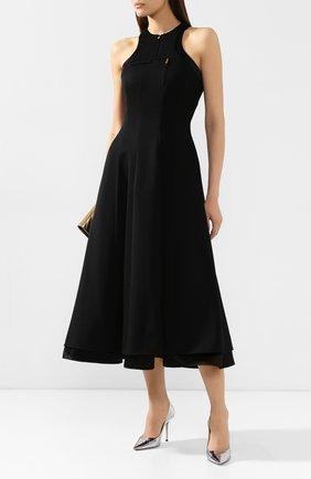 Женское шерстяное платье BRANDON MAXWELL черного цвета, арт. DR170FW19 | Фото 2
