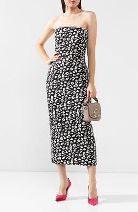 Женское шелковое платье BRANDON MAXWELL черно-белого цвета, арт. DR179FW19 | Фото 2