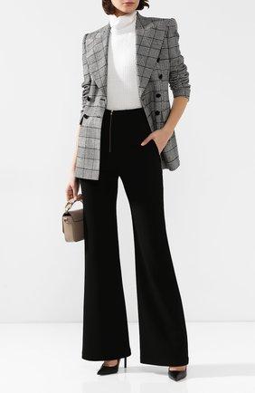 Женские шерстяные брюки BRANDON MAXWELL черного цвета, арт. PT114FW19 | Фото 2