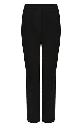 Женские шерстяные брюки BRANDON MAXWELL черного цвета, арт. PT123FW19 | Фото 1