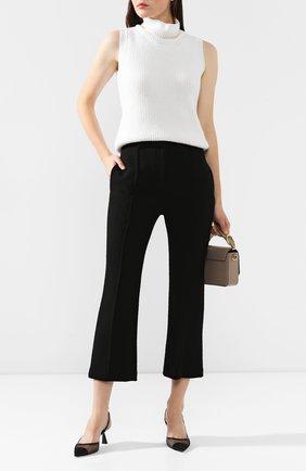 Женские шерстяные брюки BRANDON MAXWELL черного цвета, арт. PT123FW19 | Фото 2