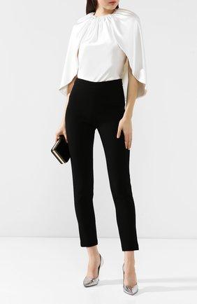 Женские шерстяные брюки BRANDON MAXWELL черного цвета, арт. PT20FW19 | Фото 2