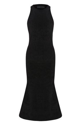 Женское платье BRANDON MAXWELL черного цвета, арт. SW139FW19 | Фото 1