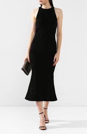 Женское платье BRANDON MAXWELL черного цвета, арт. SW139FW19 | Фото 2