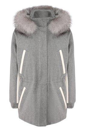 Куртка с меховой отделкой | Фото №1