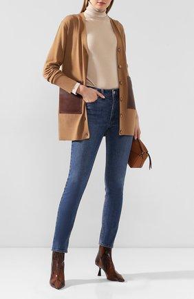 Женские джинсы BURBERRY синего цвета, арт. 8021980 | Фото 2