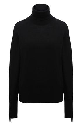 Женская водолазка из смеси шерсти и шелка BURBERRY черного цвета, арт. 8021173 | Фото 1