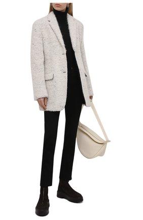 Женская водолазка из шерсти и шелка BURBERRY черного цвета, арт. 8021173 | Фото 2 (Длина (для топов): Стандартные; Рукава: Длинные; Материал внешний: Шерсть; Стили: Кэжуэл; Статус проверки: Проверена категория; Женское Кросс-КТ: Водолазка-одежда)