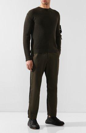 Мужской комбинированные брюки 5 moncler craig green MONCLER GENIUS хаки цвета, арт. E2-09H-11503-00-54A36 | Фото 2