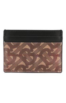 Мужской футляр для кредитных карт BURBERRY коричневого цвета, арт. 8018161 | Фото 1