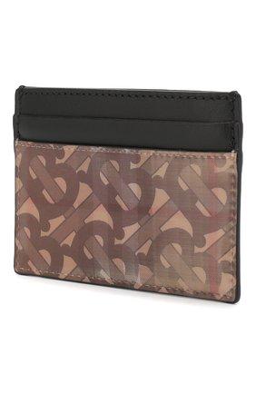 Мужской футляр для кредитных карт BURBERRY коричневого цвета, арт. 8018161 | Фото 2