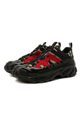 Мужские текстильные кроссовки arthur BURBERRY бежевого цвета, арт. 8021772 | Фото 1