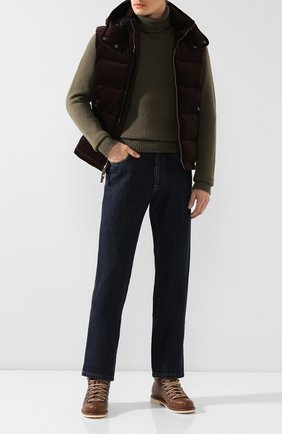 Мужские кожаные ботинки laax walk LORO PIANA коричневого цвета, арт. FAI3473 | Фото 2