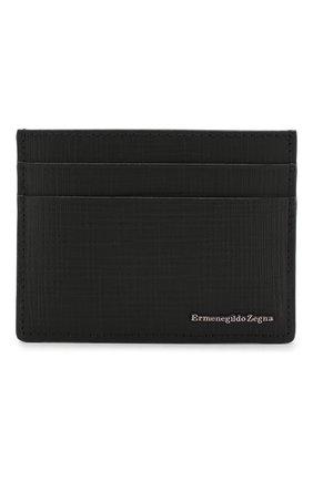 Мужской кожаный футляр для кредитных карт ERMENEGILDO ZEGNA черного цвета, арт. E1139J-LHJAK | Фото 1