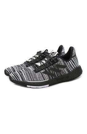 Мужские текстильные кроссовки adidas x missoni pulseboost ADIDAS черно-белого цвета, арт. EG2644/M | Фото 1