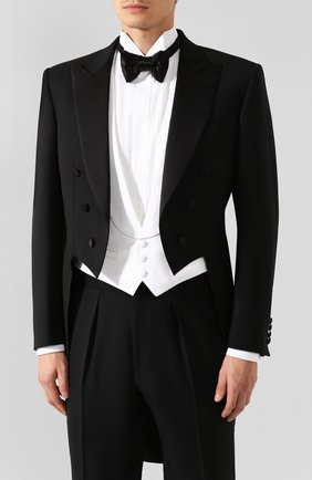 Мужской шерстяной смокинг-тройка BRIONI черного цвета, арт. R3K70L/08AN7/FRAC 19 | Фото 2