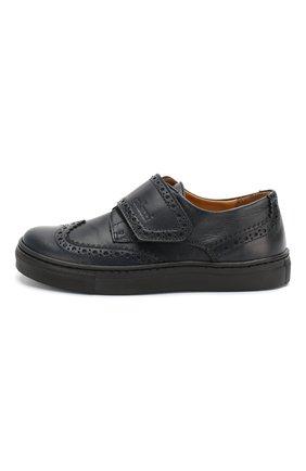 Детские кожаные туфли GALLUCCI темно-синего цвета, арт. J20032NM/SC P V G0M VIT/VIT   Фото 2