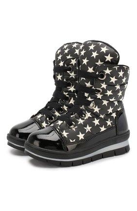 Детские утепленные ботинки JOG DOG черно-белого цвета, арт. 13008R/ZAFFIR0 M00N/23-28 | Фото 1