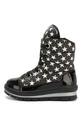 Детские утепленные ботинки JOG DOG черно-белого цвета, арт. 13008R/ZAFFIR0 M00N/23-28 | Фото 2