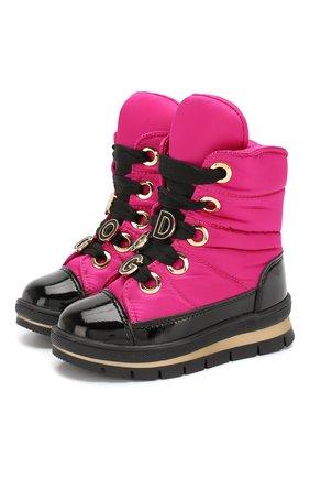 Детские утепленные ботинки JOG DOG фуксия цвета, арт. 13027R/ZAFFIR0 DINAMIC/23-28 | Фото 1