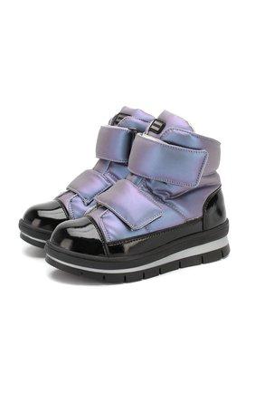 Детские утепленные ботинки JOG DOG сиреневого цвета, арт. 14039R/ZAFFIR0 LATEX/29-31 | Фото 1