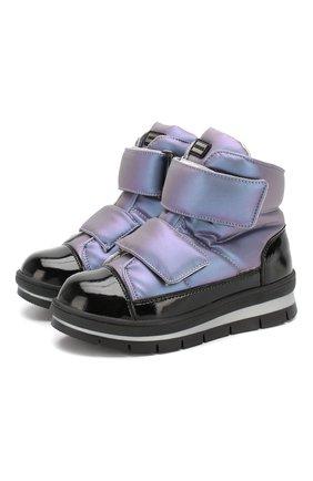 Детские утепленные ботинки JOG DOG сиреневого цвета, арт. 14039R/ZAFFIR0 LATEX/32-35 | Фото 1