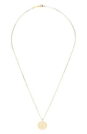 Женская кулон на цепочке HANKA_IN золотого цвета, арт. H0P-PE50-MKA | Фото 1