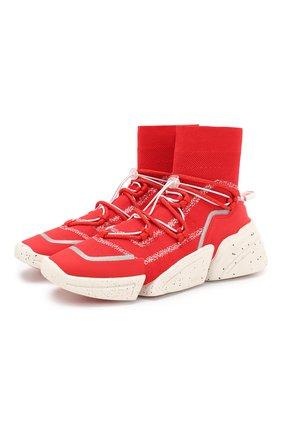 Женские текстильные кроссовки k-sock KENZO красного цвета, арт. F962SN450F65 | Фото 1