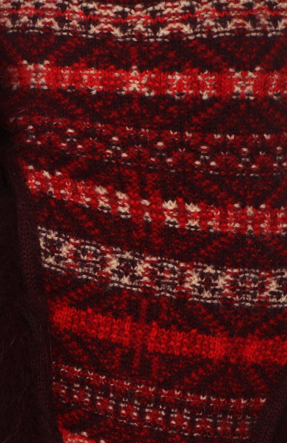 Женская шапка-ушанка с мехом лисицы LORO PIANA красного цвета, арт. FAI8727 | Фото 3