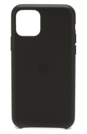 Мужской чехол для iphone 11 pro APPLE  черного цвета, арт. MWYE2ZM/A | Фото 1
