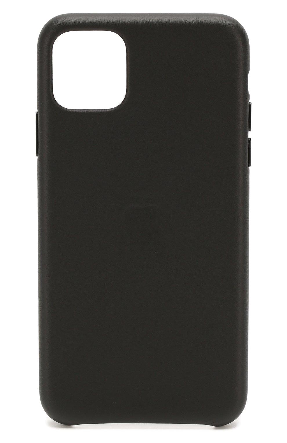 Чехол для iphone 11 pro max APPLE  черного цвета, арт. MX0E2ZM/A | Фото 1