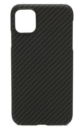 Мужской чехол для iphone 11 PITAKA черного цвета, арт. KI1101R | Фото 1