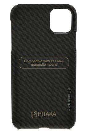 Мужской чехол для iphone 11 PITAKA черного цвета, арт. KI1101R | Фото 2