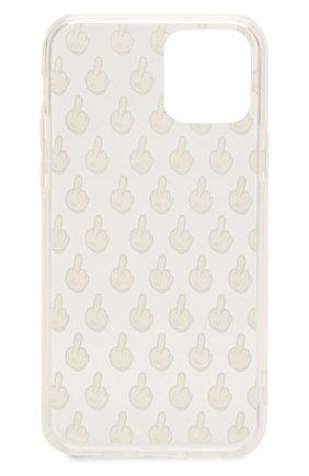 Мужской чехол для iphone 11 pro MISHRABOO прозрачного цвета, арт. F%ck pattern 11 Pro   Фото 2
