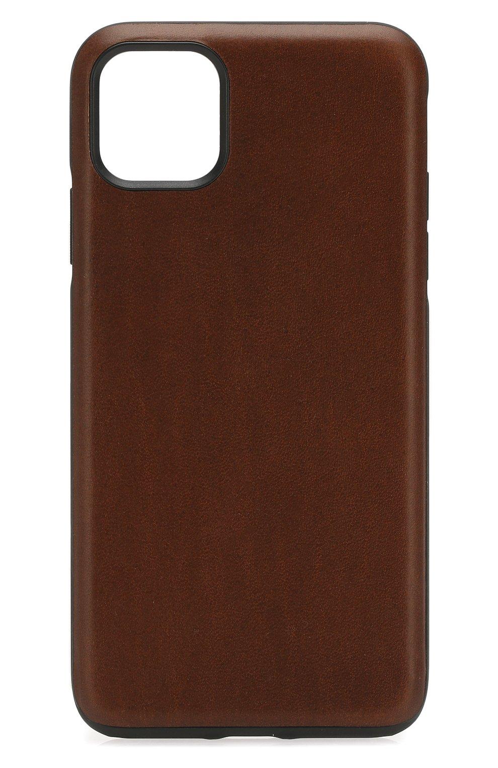 Чехол для iphone 11 pro max NOMAD коричневого цвета, арт. NM21YR0R00   Фото 1 (Женское Кросс-КТ: Кожа iPhone; Материал: Кожа)