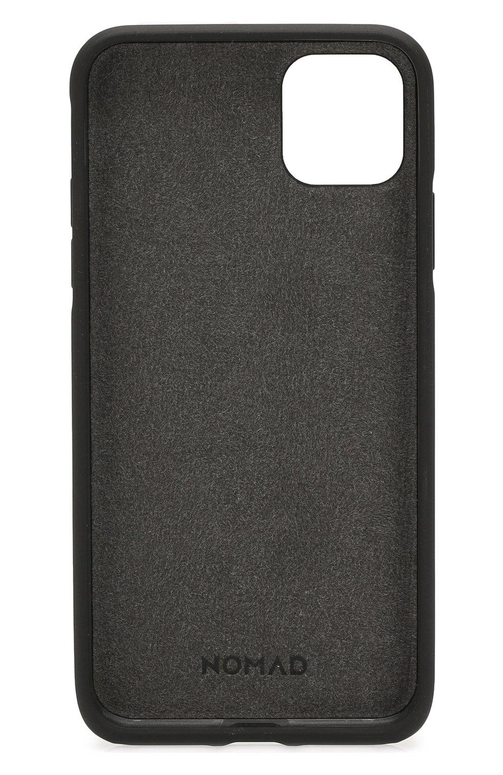 Чехол для iphone 11 pro max NOMAD коричневого цвета, арт. NM21YR0R00   Фото 2 (Женское Кросс-КТ: Кожа iPhone; Материал: Кожа)
