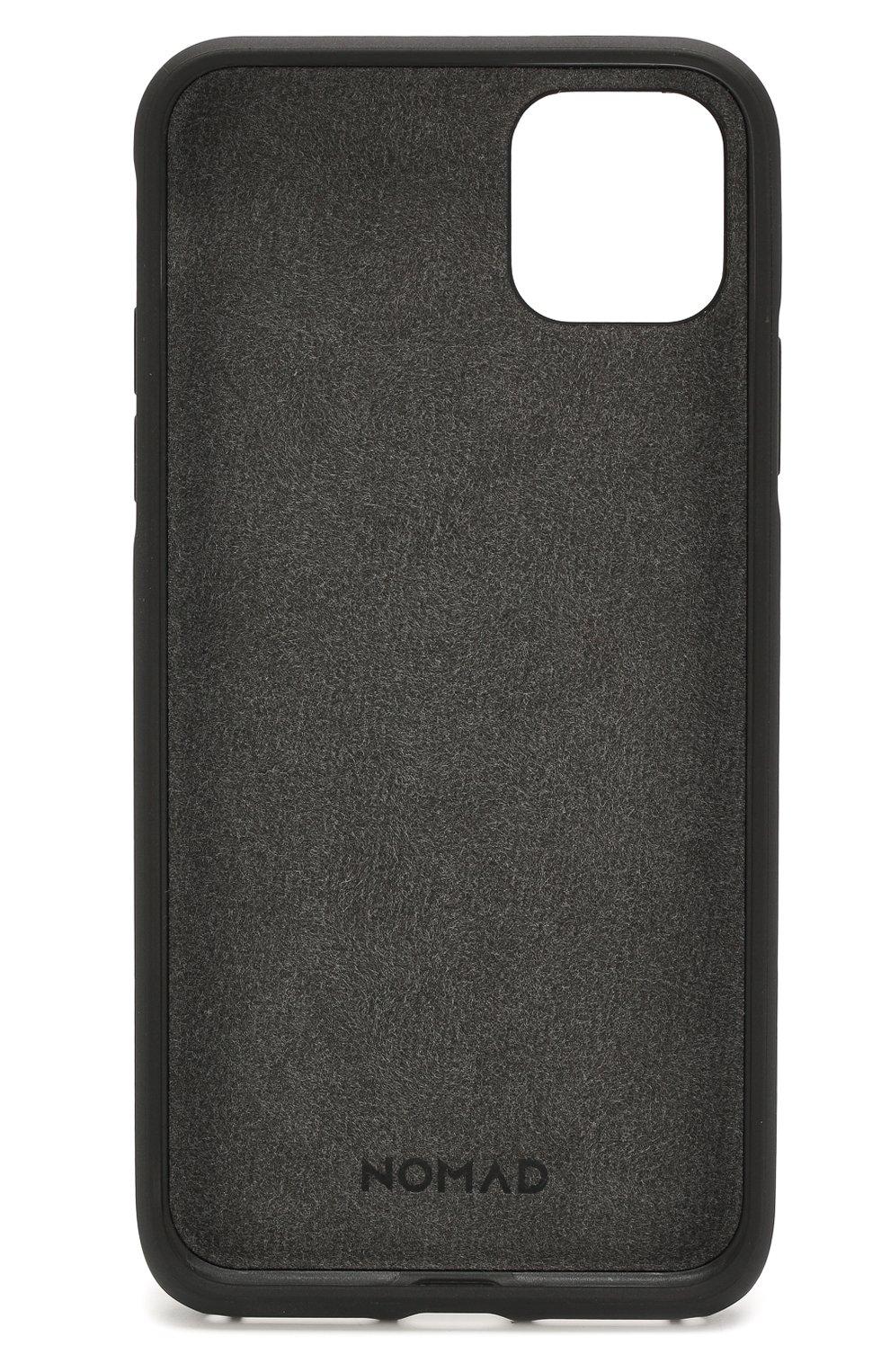 Чехол для iphone 11 pro max NOMAD черного цвета, арт. NM21Y10R00 | Фото 2 (Женское Кросс-КТ: Кожа iPhone; Материал: Кожа)