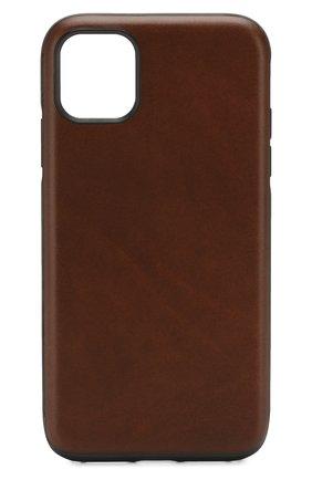 Мужской чехол для iphone 11 NOMAD коричневого цвета, арт. NM21XR0R00 | Фото 1