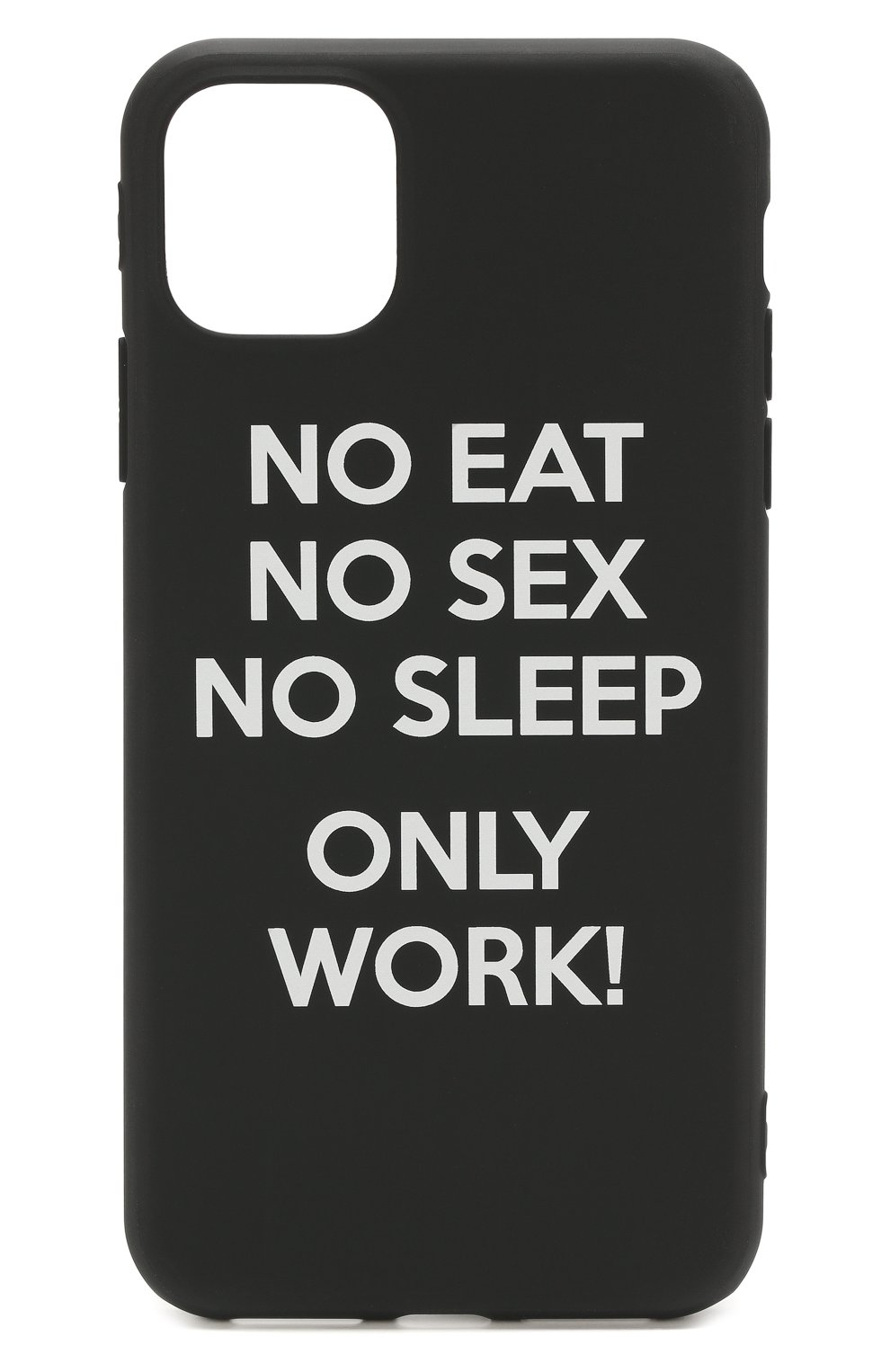 Мужской чехол для iphone 11 pro max MISHRABOO черного цвета, арт. No eat no sex 11 Pro Max   Фото 1