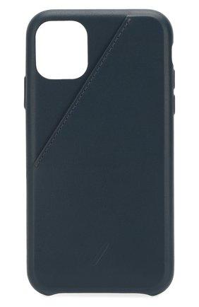 Мужской чехол для iphone 11 NATIVE UNION синего цвета, арт. CCARD-IND-NP19M | Фото 1